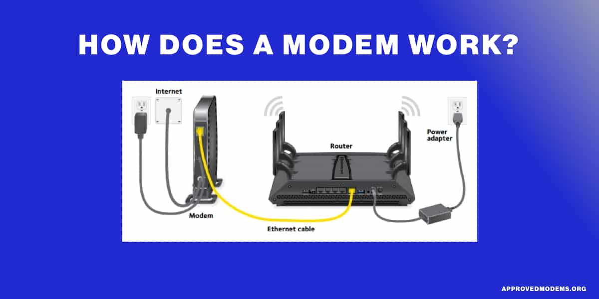How does a modem work?